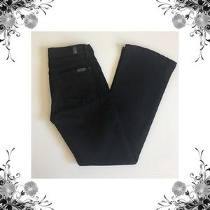 {7 For All Mankind} Solid Black Bootcut Jeans
